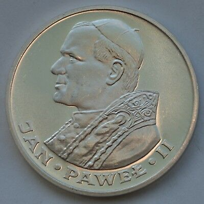 1000 Zlotych 1983 Pope John Paul II Silver Coin Poland Excellent condition ...