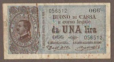 1914 Italy 2 Lire Note