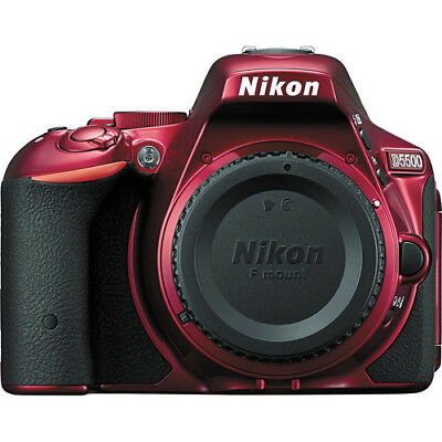 Nikon D5500 DSLR Camera (Red) Body