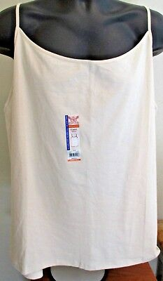 915b2aaf782 NEW WOMENS FADED Glory White Cotton Stretch Camisole Cami Top Plus ...