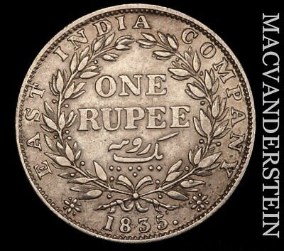 East India Company: 1835 One Rupee - Scarce!!  Better Date!!  #w3573