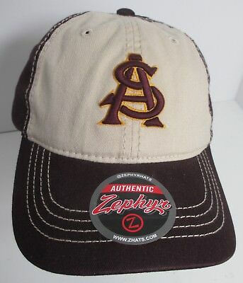 Arizona State University ASU Sun Devils Hat Cap Medium Embroidery NCAA New   adv a7a82019c74c