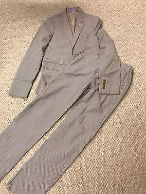 J. Crew Crewcuts Ludlow Seersucker Striped Suit Size 14