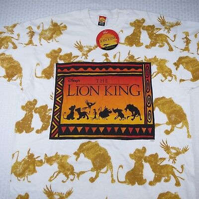 DISNEY'S THE LION KING PRE-RELEASE VINTAGE 90's T SHIRT - NEW WITH TAGS
