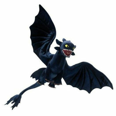 How to Train Your Dragon Toothless Night Fury Plush Doll Stuffed Animal Soft Toy