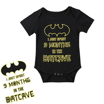 Cute Batman Baby Boy Girl Short Sleeve Romper Bodysuit Jumpsuit Clothes Outfits