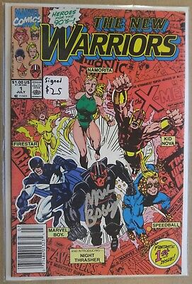 **The New Warriors #1** NIGHT THRASHER! SQUIRREL GIRL! SIGNED BY MARK BAGLEY! TV