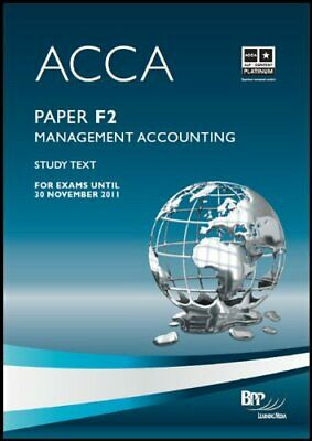 ACCA - F2 Management Accounting: Study Text by BPP Learning Media Ltd Paperback