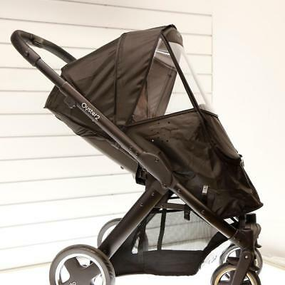 BabyStyle Oyster Crystal Clear Raincover (Black) Fits Oyster 2 Pushchairs