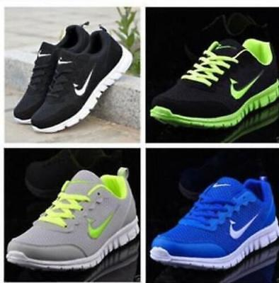 New MEN'S AND BOYS, SPORTS TRAINERS RUNNING GYM SIZES US6.5-US13  S12