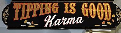 "Old Fashioned, Vintage, ""Tipping is Good Karma"" Sign, Tattoo, Restaurant, Nice"