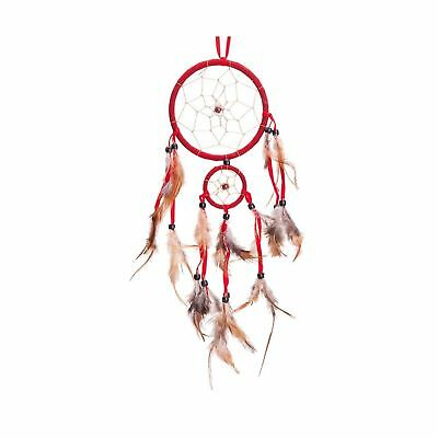18 Traditional Red Dream Catcher with Feathers Wall or Car Hanging Ornament ...