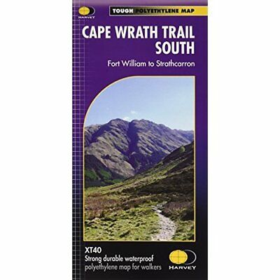 Cape Wrath Trail South XT40: Route Map - Map NEW Harvey Map Serv 2014-06-25