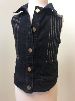 Hardly Worn.Girls Simonetta Denim Gilet/Jacket.age 6