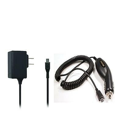 Car + Wall AC Home Charger for LG G Pad F 8.0 V495/ V496 / UK495 Tablet