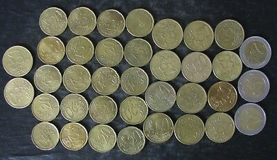 Lot: 17 Euro Face Value Coins - No Reserve