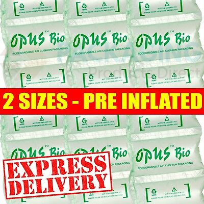 Biodegradable Pre Inflated Air Pillows Cushions Void Fill Small & Large Sizes