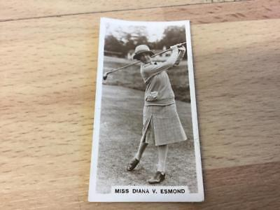Millhoff-Famous Golfers ~11- Miss Diana V. Esmond Real Photo Card