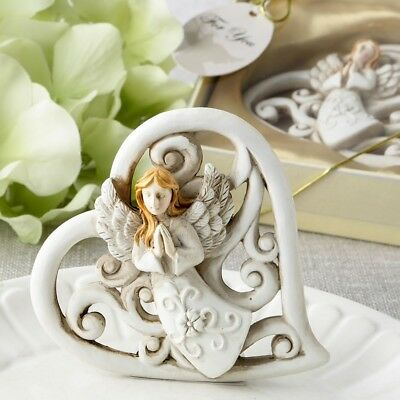 12 Praying Angel Heart Statue Christening Baptism Shower Religious Party Favors