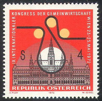 Austria 1972 Town Hall/Buildings/Economy Congress/Printing/Industry 1v (n42157)