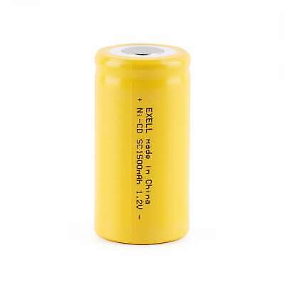 Exell SubC 1.2V 1500mAh NiCD Flat Top Rechargeable Battery FAST USA SHIP