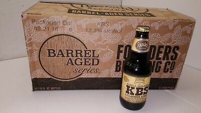 "2018 Founders Kbs Stout Beer Bottle ""empty"" New Release Barrel Aged Series Rare"