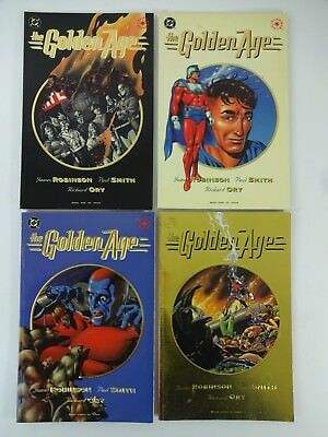 DC Comics The GOLDEN AGE 1993 #1-4 Deluxe Format Compete JSA Robinson Smith Ory