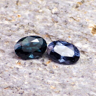SPINEL-MADAGASCAR 1.03Ct TW 2 PCS-COLOR UNMATCHED-FOR UNIQUE JEWELRY-VIDEO