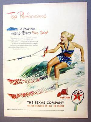 10X14 Top Perfomance Series 1948 Texaco Fire Chief Ad Waterski Theme