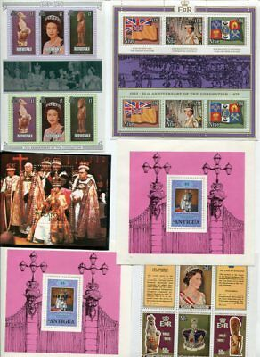 COMMONWEALTH QEII OMNIBUS MNH MINI SHEET Lot 51 Items