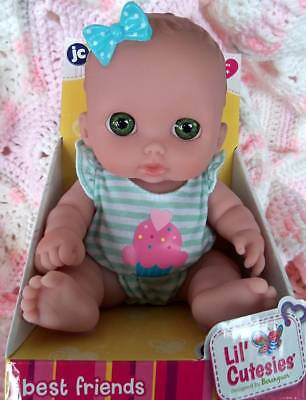 "Bibi 8.5"" Doll  Lil' Cutesies Best Friends By Berenguer  Open Mouth"