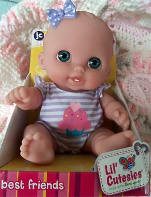 "Lulu 8.5"" Doll  Lil' Cutesies Best Friends By Berenguer  Smiling, 2 Bottom Teeth"