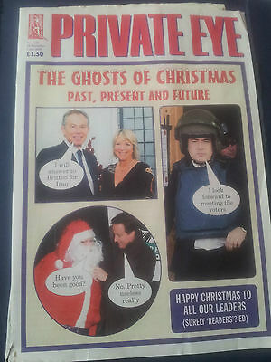 PRIVATE EYE Magazine 1252  25 Dec to 7 Jan 2010 GHOSTS OF CHRISTMAS