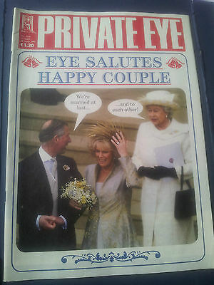 PRIVATE EYE Magazine 1130 15 Apr to 28 Apr 2005 EYE SALUTES THE HAPPY COUPLE