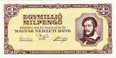 1000 000  Milpengo From Hungary1946!ef Banknote!pick-128