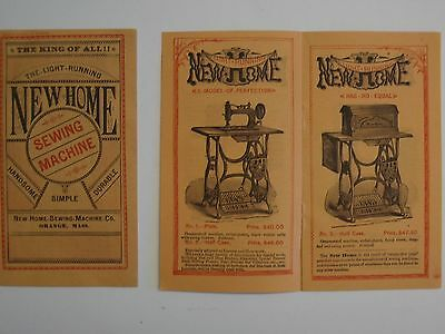 ORIGINAL 1880s  NEW HOME SEWING MACHINE CO. SALES BOOKLET >mint<