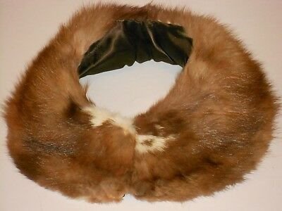 Vintage MINK COLLAR Detachable with Hook and Eye Closure Real Fur - Free Ship
