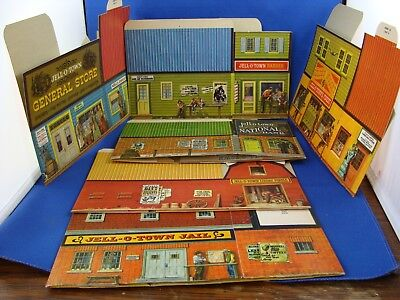 Set Of 6 Jello Town Western Packages  - 1961 Canada