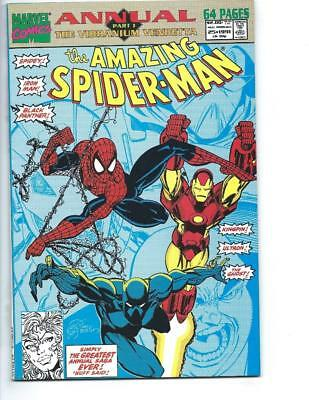 Amazing Spider-man Annual # 25 First Venom Solo Story Black Panther NM-