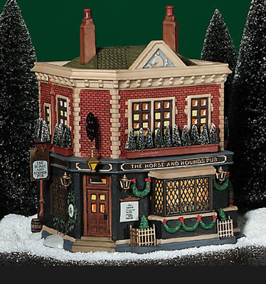 Dept 56 Dickens Village - Horse & Hounds English Pub 58340 Retired 2004 Mint