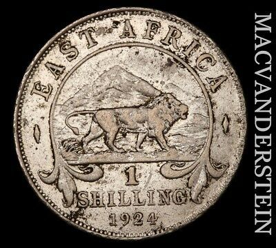 British East Africa: 1924 One Shilling- Scarce !! Better Date !! #x6468