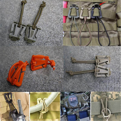 2PCS EDC Bag Mini Tool Backpack Carabiner Molle Buckle Clip Winder Update Newly