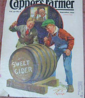 "Antique Magazine Print ""Capper's Farmer"" SWEET CIDER 14x10"