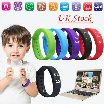 Children Smart Watch Activity Tracker Kids Pedometer Step Counter Fitness Band