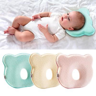 Safe Baby Cot Pillow Preventing Flat Head Neck Syndrome for Newborn Girl Boys UK
