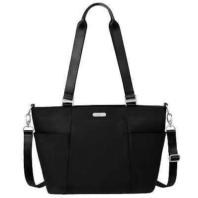 Baggallini Medium Avenue Tote Travel Handbag Black Sand