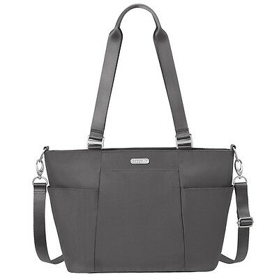 Baggallini Medium Avenue Tote Travel Handbag Charcoal