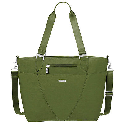 Baggallini Avenue Laptop Tote Travel Handbag  Moss