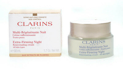 Clarins Extra-Firming Night Rejuvenating Cream 50ml Moisturiser All Skin Types