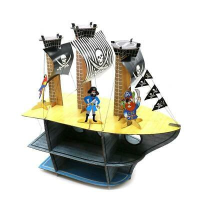Pirate Ship Cupcake Cake Muffin 3 Tier Stand Party Table Decorations Boys Girls